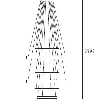 Light Ring XXL - 8 rings - H 280 cm