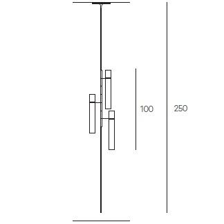 3 Cylindres - Ø 7 cm - Hmax 250 cm