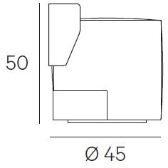 Ø 45 x H 50 cm - Swivel