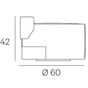 Ø 60 x H 42 cm -  Swivel