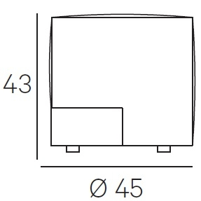 Ø 45 x H 43 cm - Fixed