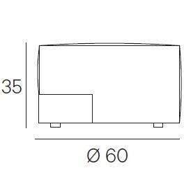 Ø 60 x H 35 cm - Fixed