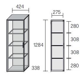 Alambra_ 42.4 x 33.8 x H 128.4 cm