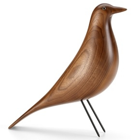 Eames House Bird_Nogal, lacado transparente