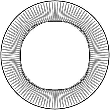 pared - Ø 72 x 10 cm - Sin LED