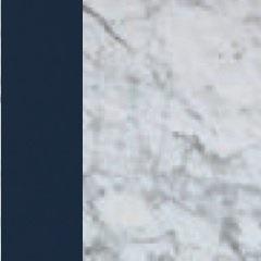 Laccato blu/Marmo Bianco Gioia lucido