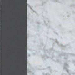 Laccato grigio/Marmo Bianco Gioia lucido