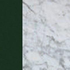 Laccato verde/Marmo Bianco Gioia lucido