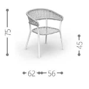Moon Alu Chair with Armrests