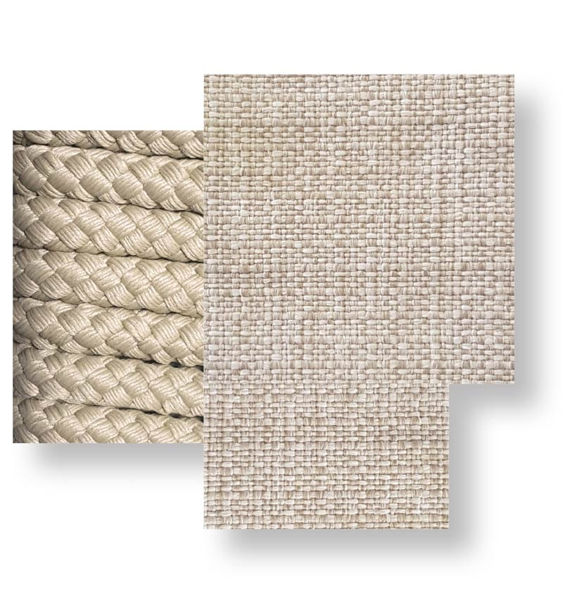Cliff _ Rope beige, beige cushion