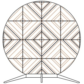 Babu Tribal Small - 50 cm x H 53.4 cm