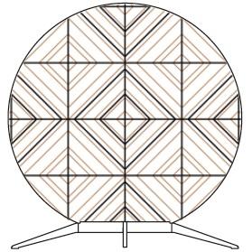 Babu Tribal Medium - 70 cm x H 74.8 cm