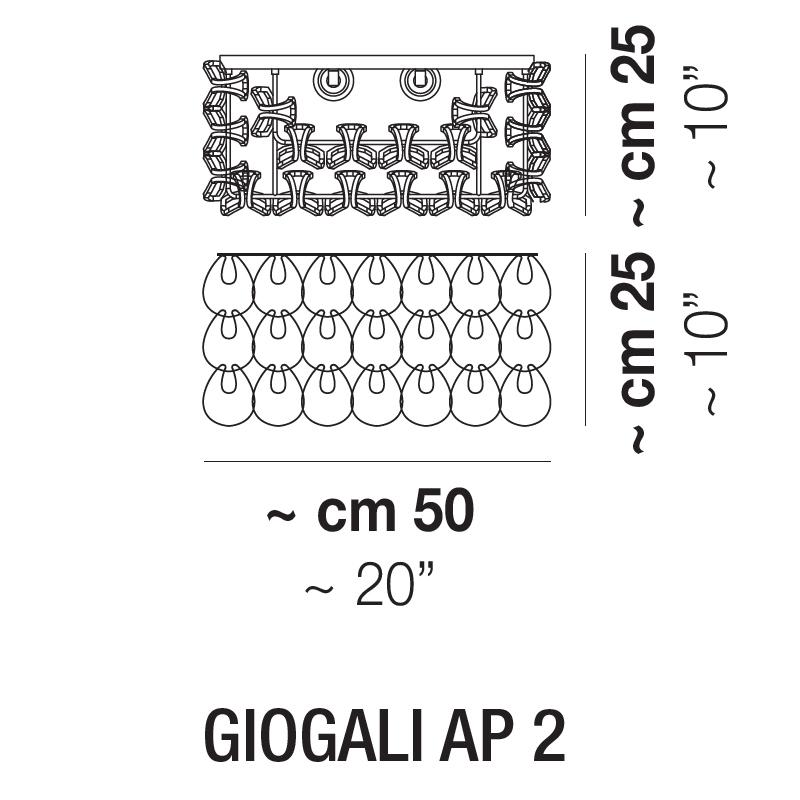 GIOGALI AP2_  Ø 50 cm x 25 x H 25 cm
