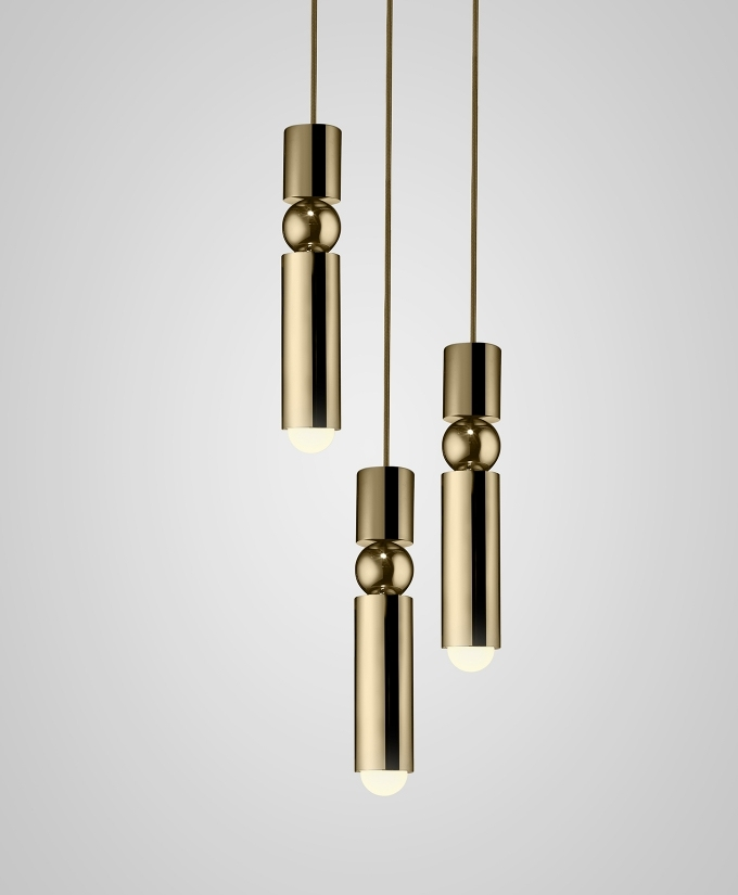 Fulcrum Gold Chandelier 3 Tier