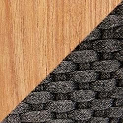 Teakholz Natür / Flat Rope Lava Grey
