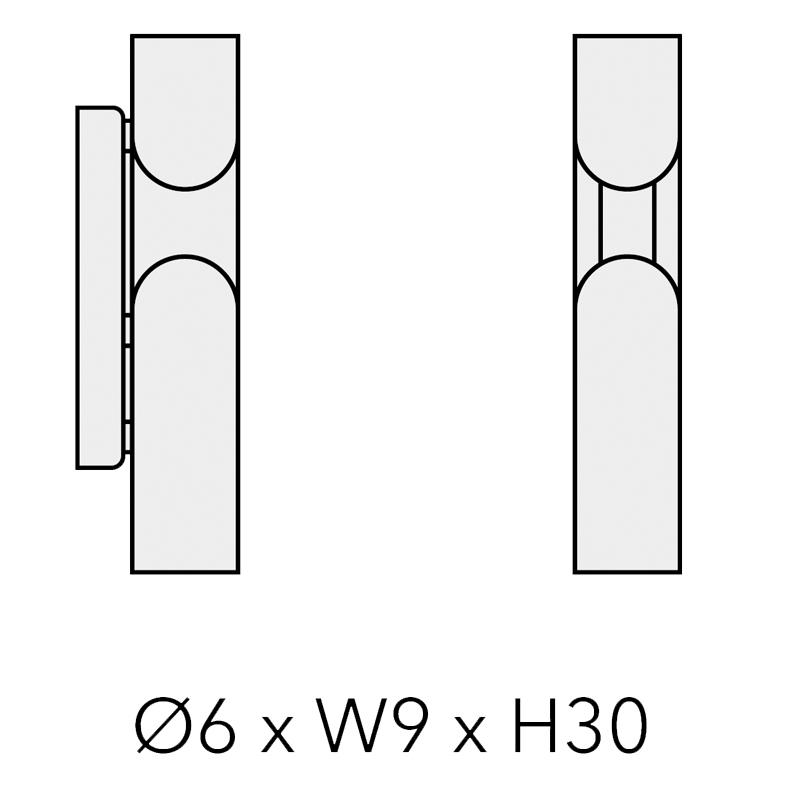 CLASH FIX_Ø 6 x 9 x H 30 cm