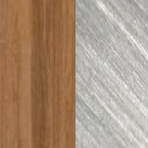 Teak / Stainless steel brushed