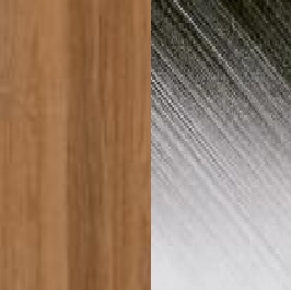 Teak / Stainless steel electro polished