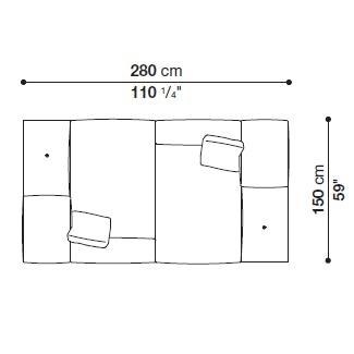 DOCK BASSO 008_ 280 x 150 cm