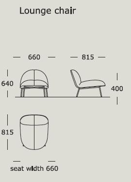 Half & Half_ 66 x 81,5 x H 64 cm