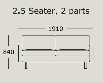 Nova v2 2,5 Seater 2 Cushions_ 191 x H 84 cm