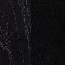 Esche schwarz gebeizt/Schwarz Kernleder