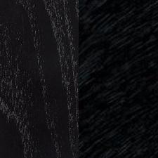 Esche schwarz gebeizt/Leder mit Schwarz Felle