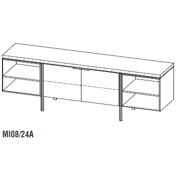 Irving MI08/24A_ 240 x 54,2 x H 79 cm