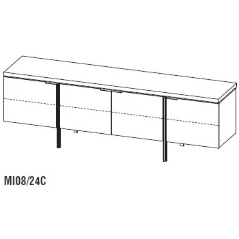Irving MI08/24C_ 240 x 54,2 x H 79 cm