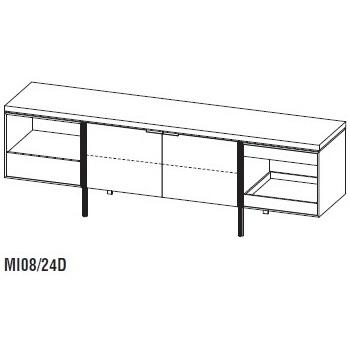 Irving MI08/24D_ 240 x 54,2 x H 79 cm