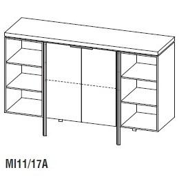 Irving MI11/17A_ 170 x 50 x H 110 cm
