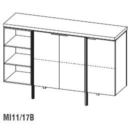Irving MI11/17B_ 170 x 50 x H 110 cm