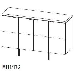 Irving MI11/17C_ 170 x 50 x H 110 cm