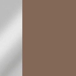 Acero cromado / Marrón mate