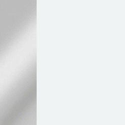 Acero cromado / Blanco mate