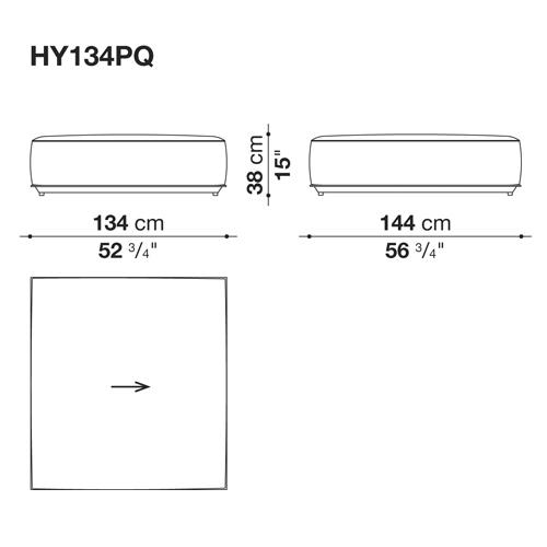 HYBRID HY134P_134x144x38H cm