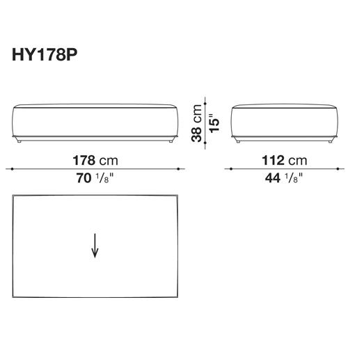 HYBRID HY178P_178x112x38H cm