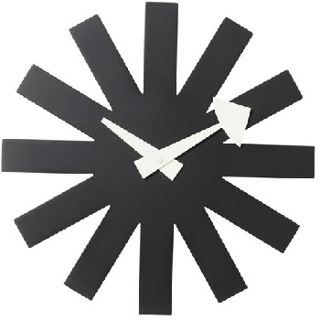 asterisk-clock-black