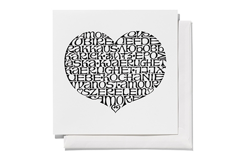 International Love Heart, black _ square