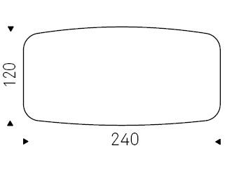 240 x 120 x H 74,5 cm Sag
