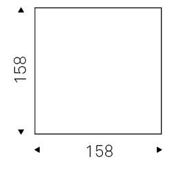 Gordon_ 158 x 158 x H 75 cm