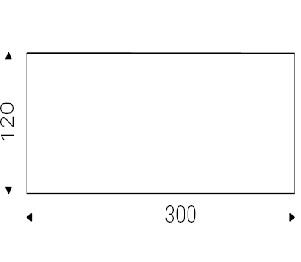 Gordon_ 300 x 120 x H 75 cm