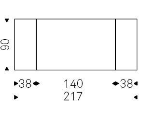 Linus_ 140-217 x 90 x H 75 cm