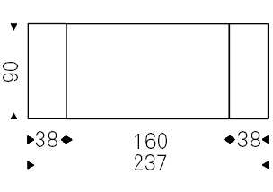 Linus_ 160-237 x 90 x H 75 cm