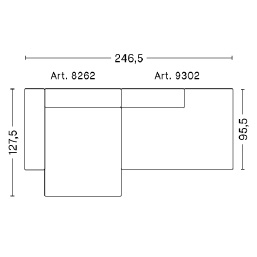 Mags 2,5 L_ 246.5 x 127.5 x H 67 cm