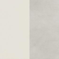 Painted matt white / Matt ceramic light grey lime