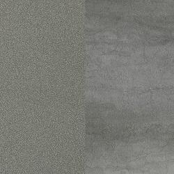 Painted matt pewter / Matt ceramic mid grey Savoia stone