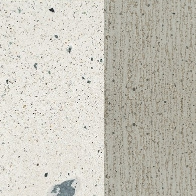 White stone chip cement P129 / natural cement X080