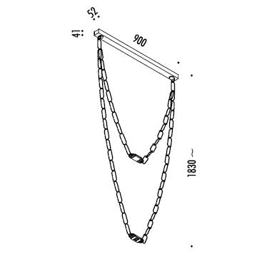 ChainDelier 1-2_ 90 x ~ H 183 cm