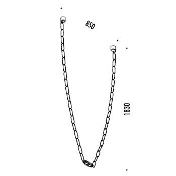 ChainDelier 2-1_ 85 x H 183 cm